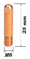 Наконечник Cu-E M6X25X0,8 (d=0,8mm) прямой