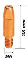 Наконечник Cu-E M6X28X0,8 (d=0,8mm)